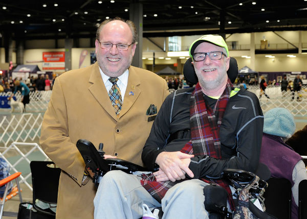 Bryan Martin, AKC regional rep and Randy at Seattle Kennel Club Show
