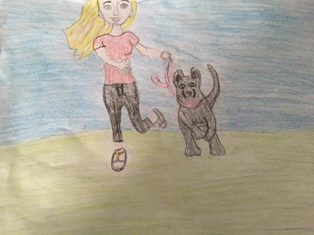 AKC Dog Days of Summer Art contest Amanda