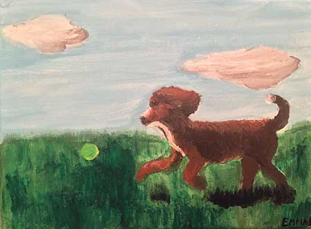 AKC Dog Days of Summer Art contest EMMA