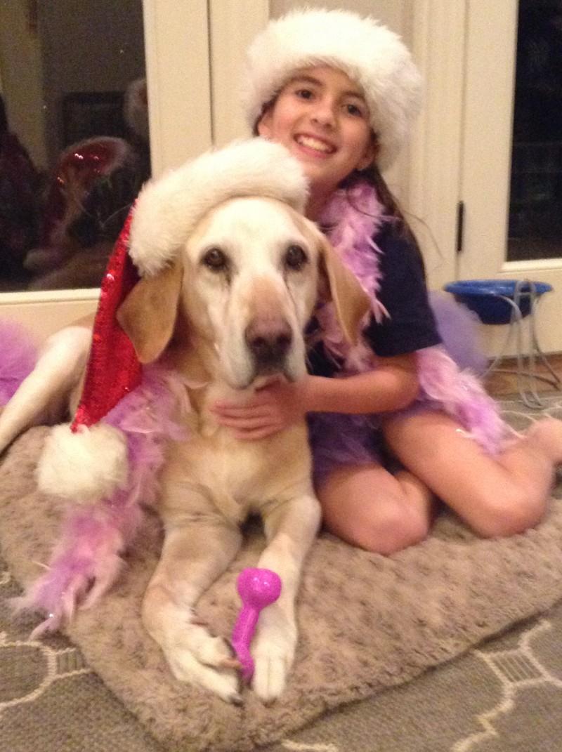Katherin Finley with Labrador Retriever