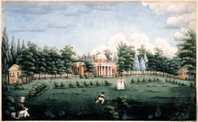 View of the West Front of Monticello Briard