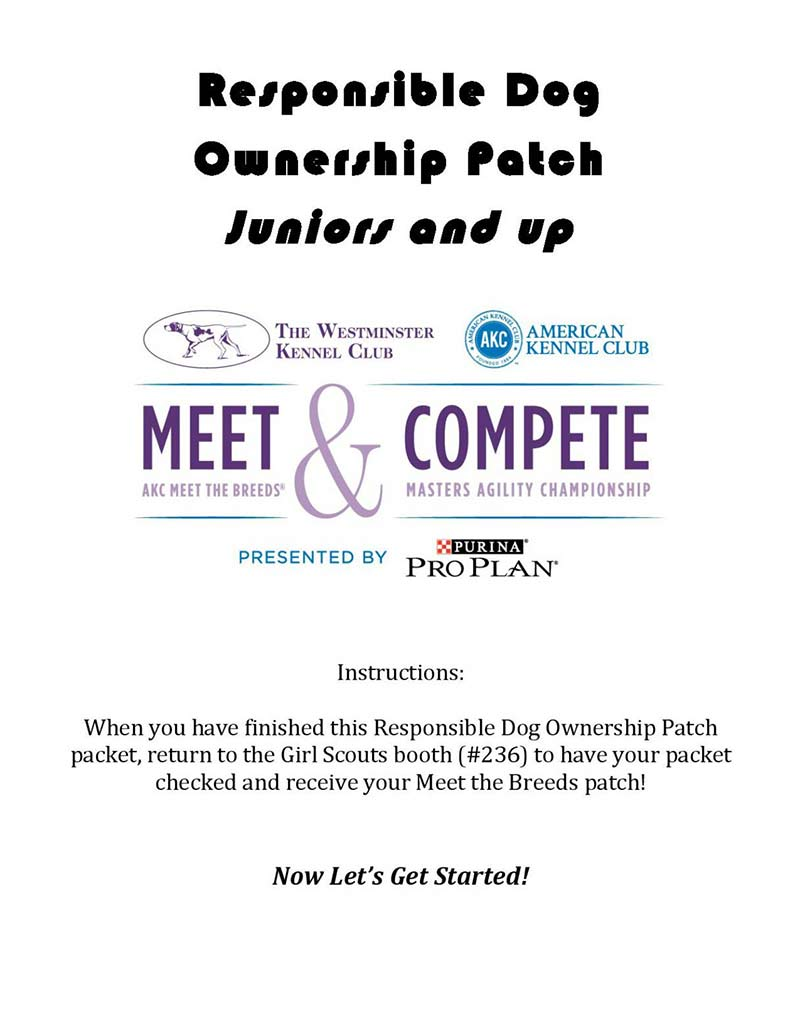 Responsible dog ownership patch juniors and up american kennel club