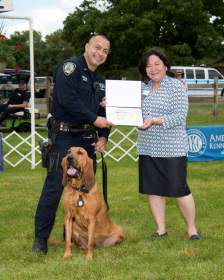 Staten Island Kennel Club Honors Officer Mauel Orellana and Police K9 Angel
