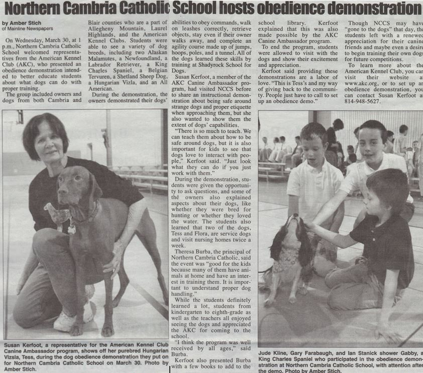 Canine Ambassadors In The News