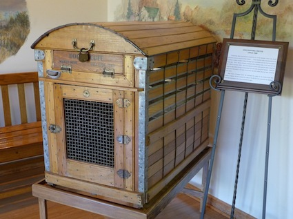 Recent additions to the museum include two vintage dog-shipping crates, circa 1900, that were discovered in a hay barn in New Hampshire.