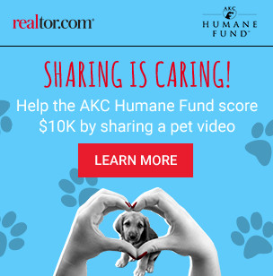 realtor.com and akc humane fund button
