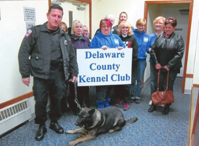Delaware County Kennel Club members with Nikko