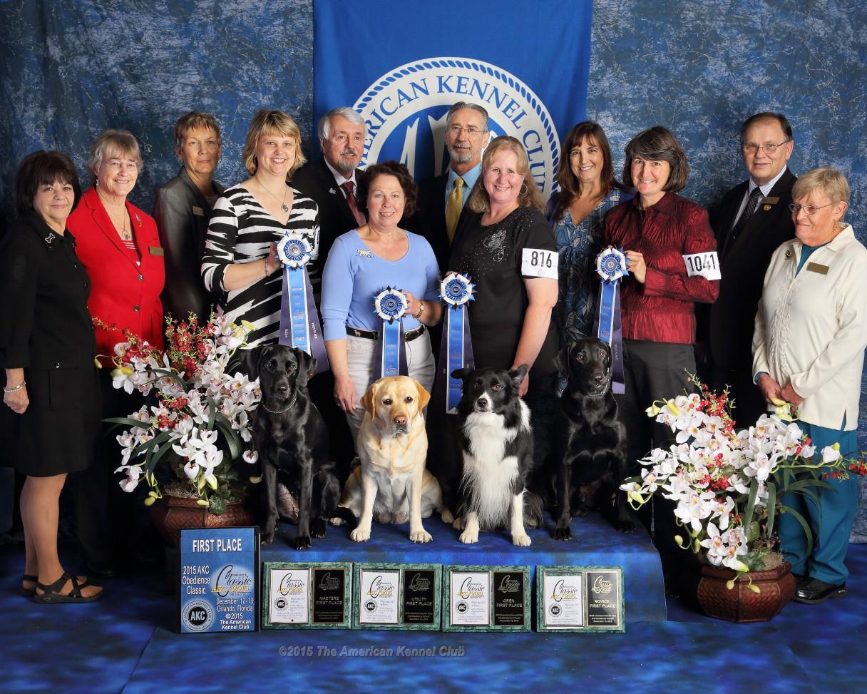 2015 Obedience Classic Winners