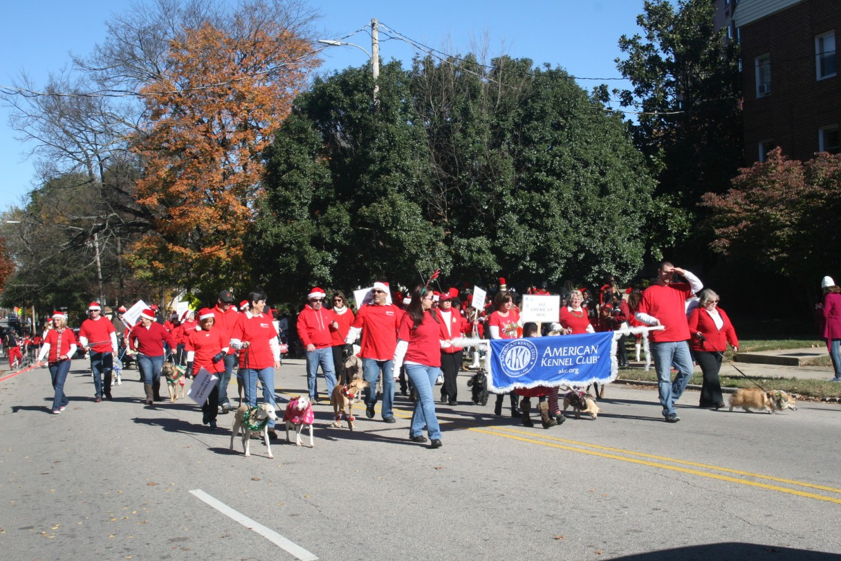 AKC employees marching