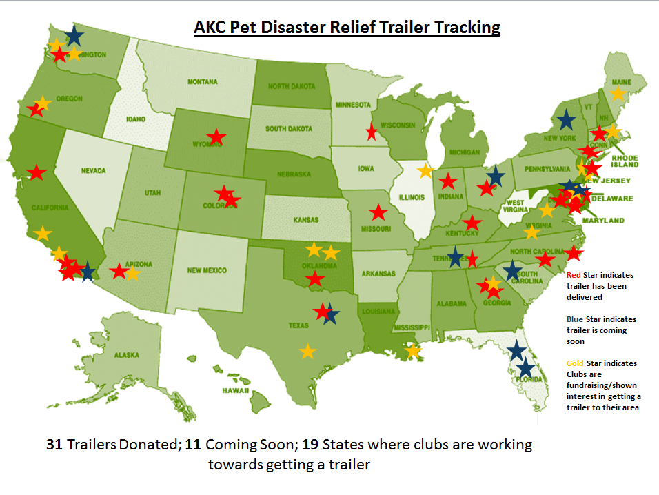 AKC Pet Disaster Relief trailer tracking