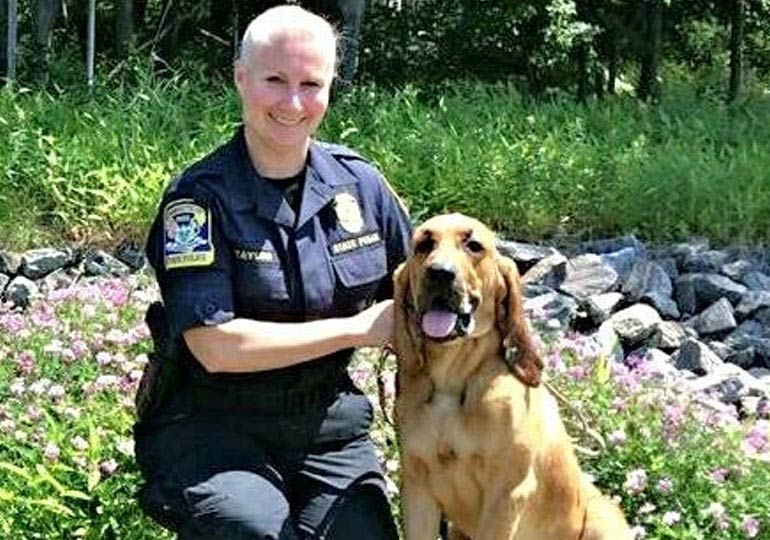 State Police Bloodhound Finds Missing Senior Citizen