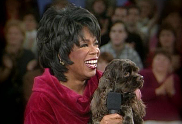 oprah and her dog