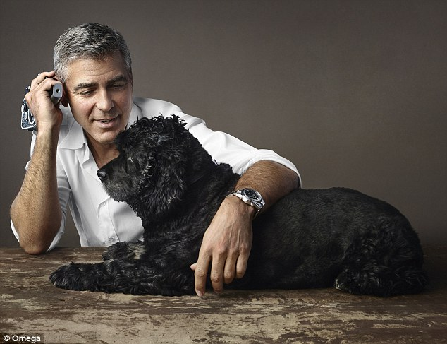 george clooney and his dog