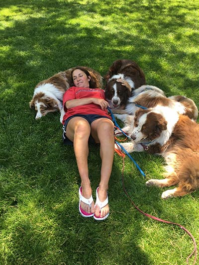 duthie and her dogs