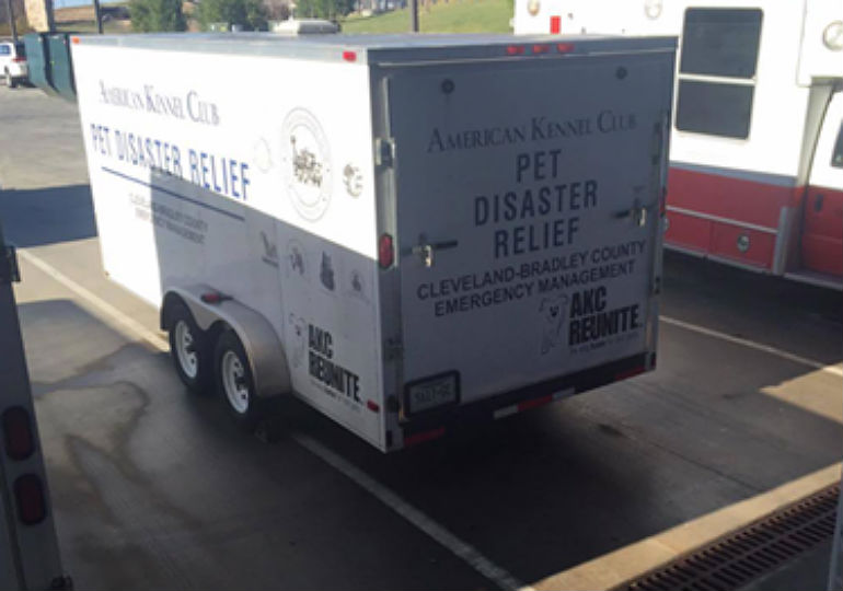 AKC Pet Disaster Relief Trailers Deployed to Assist People and Pets in Tennessee