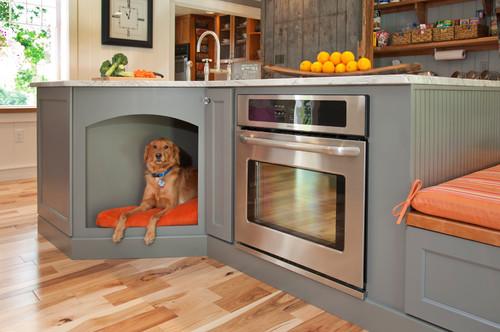 under cabinet dog bed