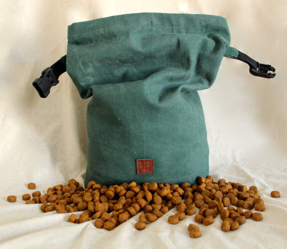 canvas dog treat bag