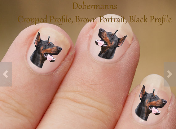 Doberman nail art