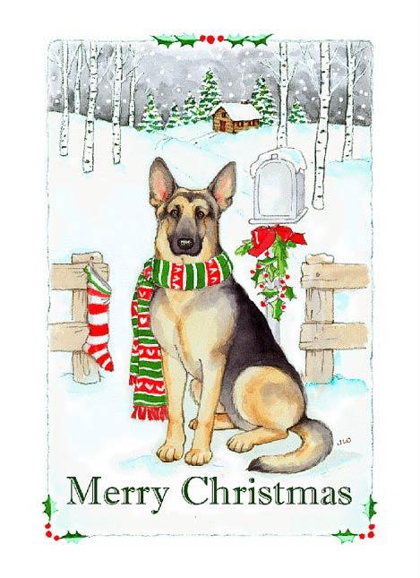 GSD Christmas card