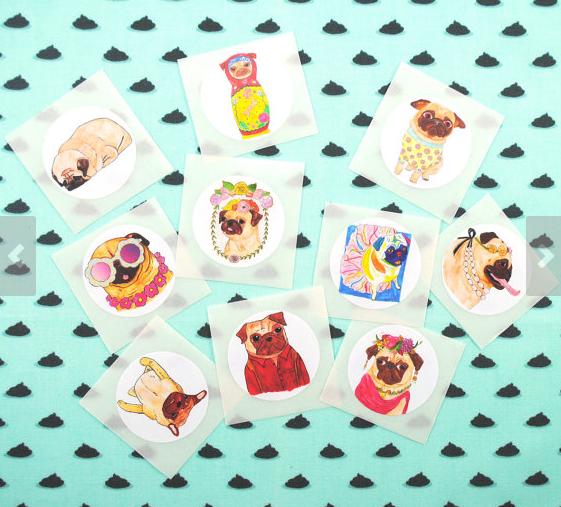 pug stickers