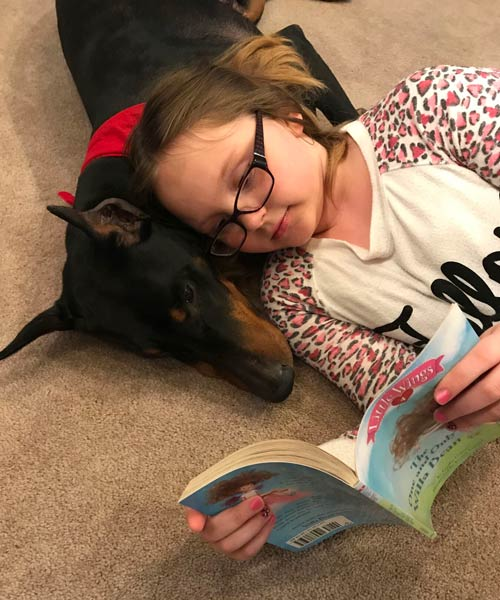 chester reading therapy dog
