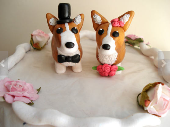 corgi wedding toppers