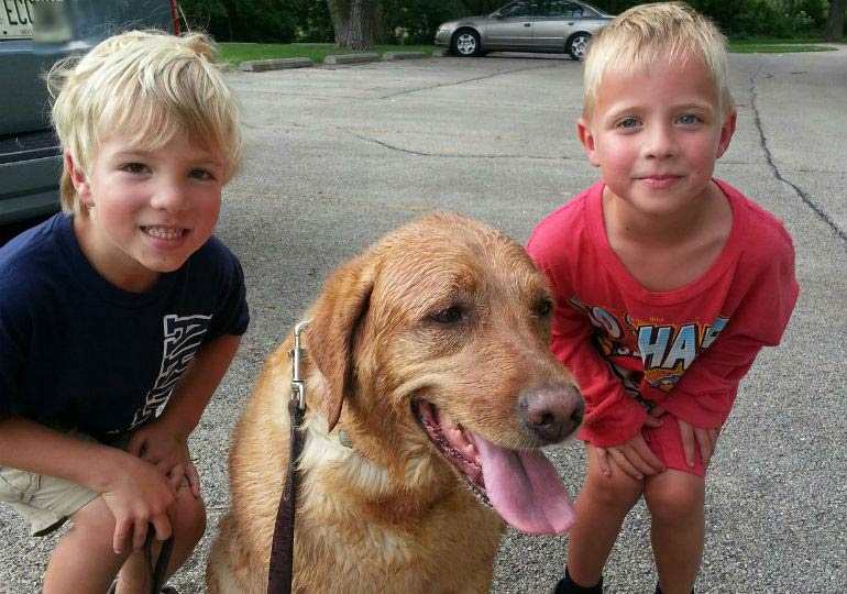 Eight-Year-Old Boy's Quick-Thinking Saves Mom and Dog