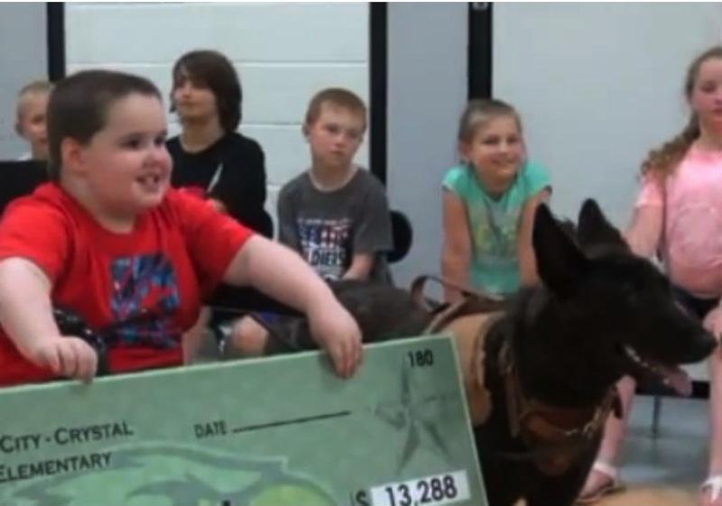 Elementary School Students Raise Money To Get Classmate A Service Dog
