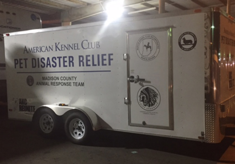 AKC Pet Disaster Relief Trailer Deployed After Tornadoes in Indiana
