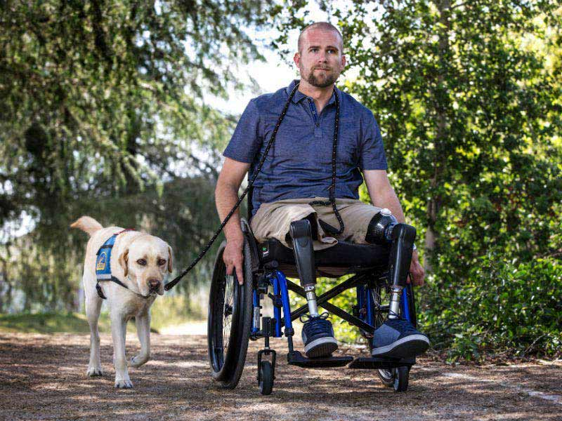 Service Dogs For Heroes A Veteran Benefits From Life With A