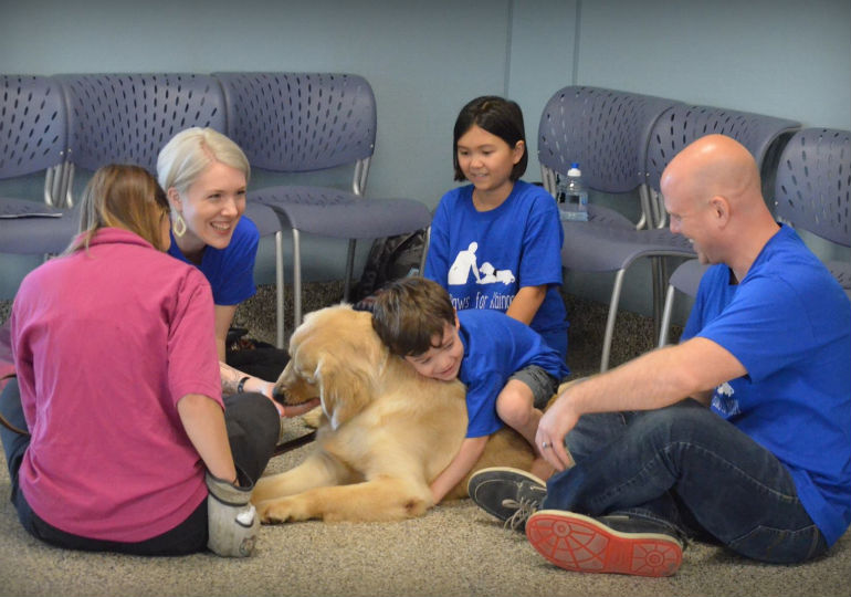 See the Heartwarming Moment A Boy with Autism Met His New Service Dog
