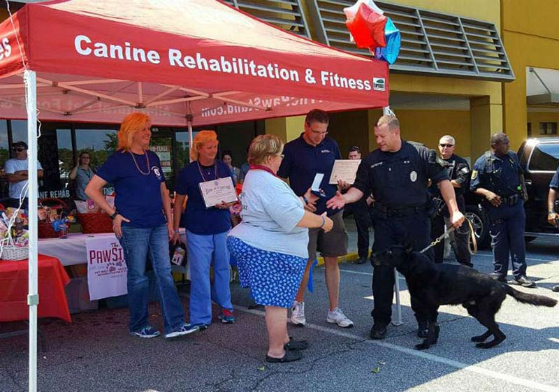 Atlanta Obedience Club Honors AKC Paw of Courage Recipient, K-9 Tryko
