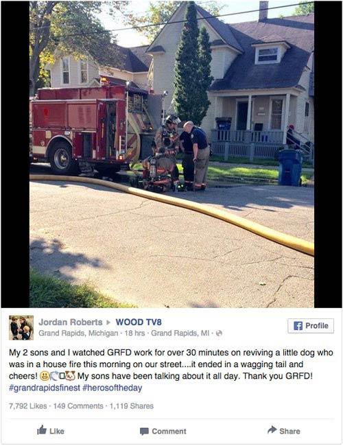 Facebook grab firefighter cpr