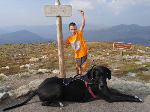 Hunter and Wendy at 1200 feet