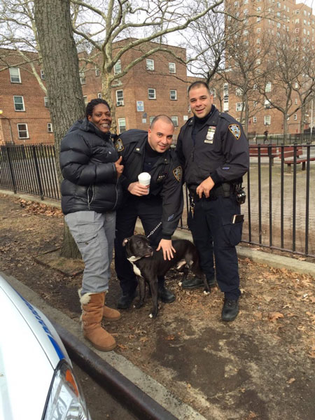 NYPD with escaped dog