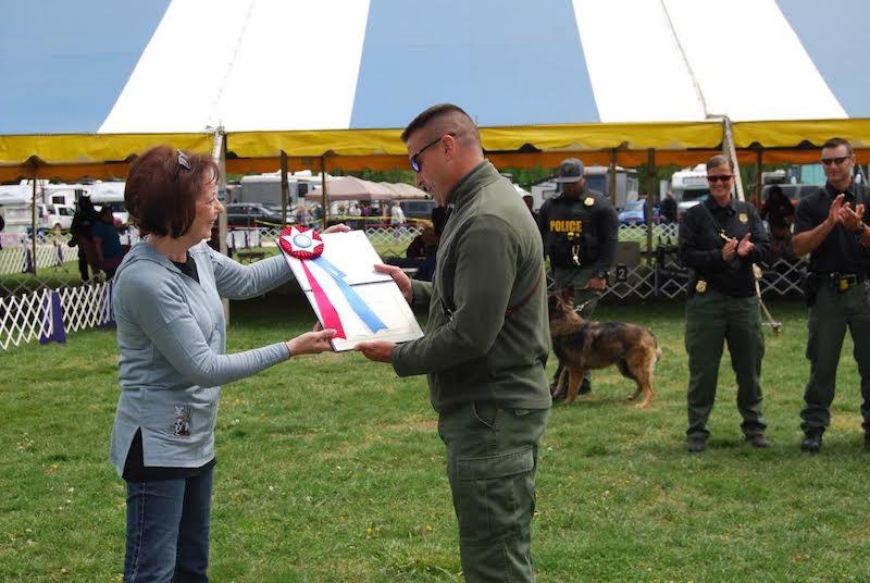 k-9 officer recognition